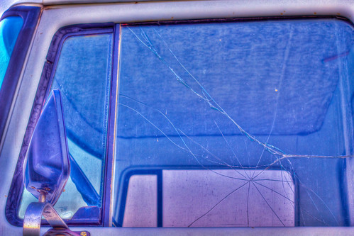 Broken Glass in Old International Truck