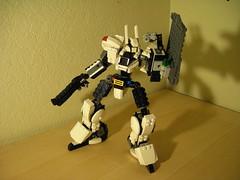 heavy - shield raised (juecifer) Tags: robot lego space police mecha mech