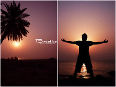 Breathe || ~ ME (Ali Hamad |  ) Tags: sea sun black set ali  breathe zero hamad  the