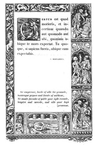 014-Letra C -The celebrated Hans Holbein's alphabet of death, illustr. with old borders ...1856