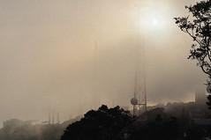 antenne nella nebbia (gaemau) Tags: sunset fog nikon tramonto nebbia antenna sicilia controluce erice d90