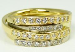 Diamond set ribbons style ring