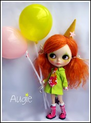(Angel~Lily) Tags: new orange doll clown mohair blythe custom takara augie reroot angel~lily