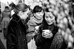 Moods (Chris JL) Tags: uk winter london coffee tongue women candid streetphotography shoreditch moods flowermarket choral columbiaroad nikond90 nikkor2470mmf28g e2m chrisjl