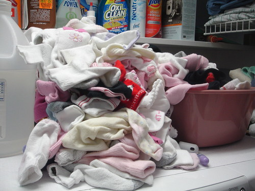 Overflowing Sock Bin