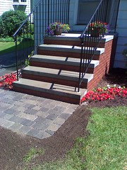 Brick steps with walkway