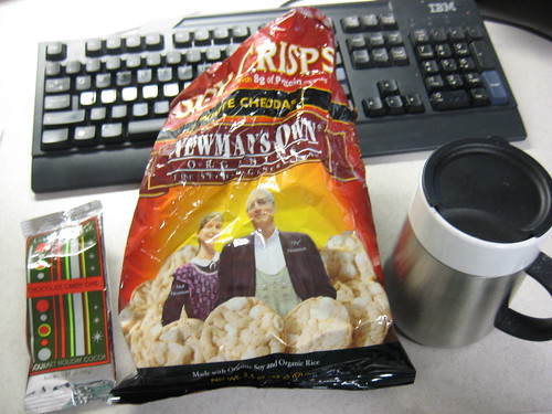 Newman's Own Organics soy crisps cheddar