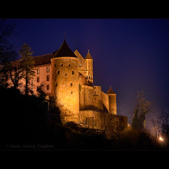 Burg Stettenfels - Stettenfels castle (hgviola ) Tags: light beauty night germany deutschland 50mm licht twilight nikon europa europe nacht beautifullight medieval architektur bluehour indah nikkor schloss nuit allemagne notte hdr malam burg nachtaufnahme schnheit heilbronn blauestunde jerman badenwrttemberg mittelalter untergruppenbach d80 stettenfels hgviola