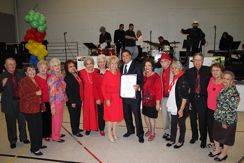 Group Shot-Councilmember Jose Huizar-4th Annual Senior Snowball-Valentines Day-El Sereno-CD 14-Los Angeles