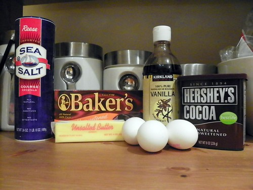 Salted Fudge Brownies - the Ingredients