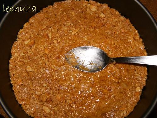 Tarta de coco y piña-galleta