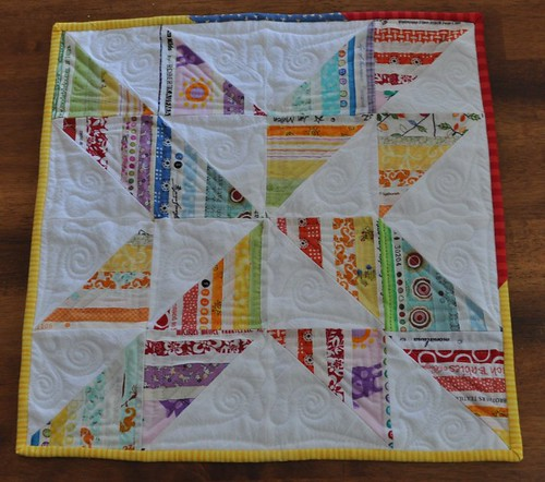 selvage pinwheel quilt for PQS5
