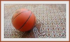 Play ball! (Trinimusic2008 - Stay blessed) Tags: toronto ontario canada color colour basketball ball carpet flickr pattern play random object january indoors rug handcrafted to 2011 trinimusic2008 nameaddedandframingwithpicnik