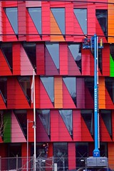 Kuggen colors (tmpz) Tags: park red building colors gteborg construction gothenburg science lindholmen kuggen