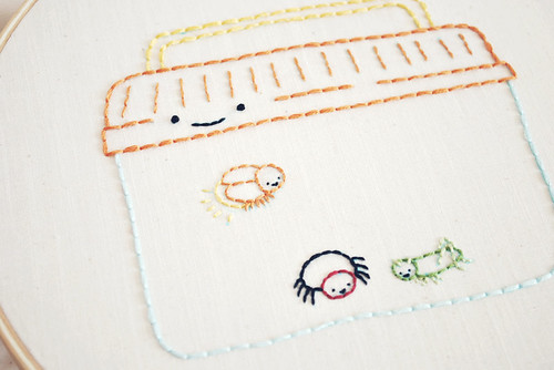 Creepy Crawlies Embroidery