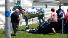 Memorial for the Late Officer Daniel Howard #3 (artistmac) Tags: chicago il illinois city urban street canaryville southside memorial horse artwork art officerdanielhoward danielhoward posthumous police 9thdistrict 9thdistrictpolice unveiling ribboncutting