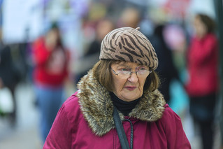 Lady with beret