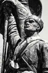 Old Guard (Andy J Newman) Tags: budapest pest statue soviet soldier nikon d500 silverfefex blackandwhite bandw bw memento