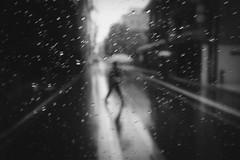 涙雨 (tomorca) Tags: umbrella rain monochrome blackandwhite silhouette street