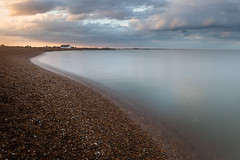 let there be light.. (Dave Watts Photography) Tags: shinglestreet davewatts pebbles light sky clouds sunset landscape seascape cottage longexposure suffolk