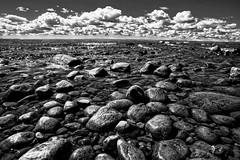 Hindens rev - Sweden (PeterSundberg66 former PeterSundberg65) Tags: stones black white clouds hindens rev nature strong watch vänern