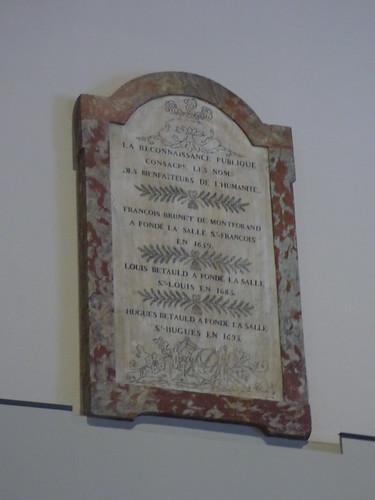 Hôtel-Dieu de Beaune - Salle Saint-Louis - plaque - La Reconnaissance Publique