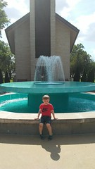"Paul at the Fountain at the Dwight D Eisenhower Library • <a style=""font-size:0.8em;"" href=""http://www.flickr.com/photos/109120354@N07/35659142286/"" target=""_blank"">View on Flickr</a>"