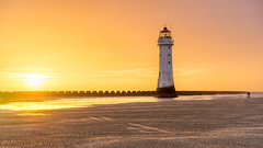 Out Shone (philiplivesey) Tags: abandoned beech england lighthouse liverpool newbrightonlighthouse sand sea sun sunset water