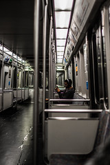 Plain Train (aloof.photo) Tags: city train 35mm f14 redring monochromatic