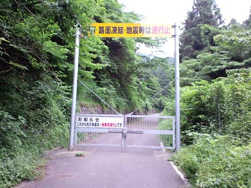 宮ヶ瀬湖畔近くの林道