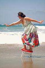 Beach Chair bench Monday {+3} (~nut*meg~) Tags: beach water sand waves surfing zuma prop sinking hangten hbm hobm phototakenbystaci red