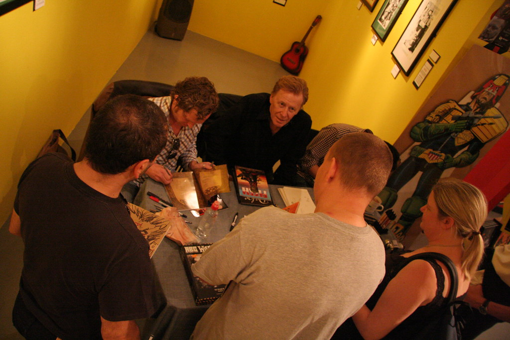 Pat Mills, Leigh Gallagher and Clint Langley Signing