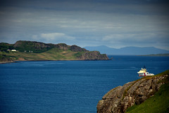 Staffin Scotland....  Isle of Skye (Deborah Valentin) Tags: ocean blue camping summer coastguard mountains green nature bay scotland fishing aqua isleofskye hiking kayaking staffin triptoskye abigfave nicolasvalentin rockycliffs deborahstalter
