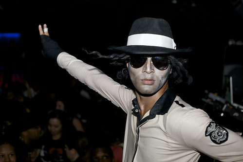 Michael Jackson impersonator at The Freedom Party