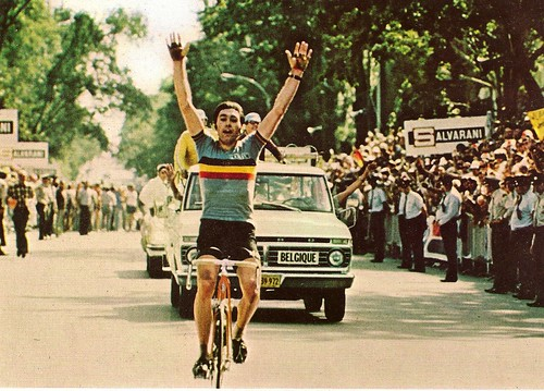 Eddy Merckx winning the World Championships in Montreal 1976