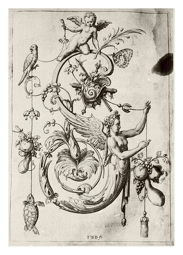 018-Letra S- Sirena-Neiw Kunstliches Alphabet 1595- Johann Theodor de Bry