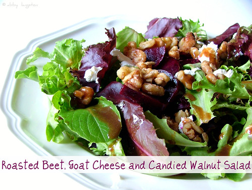 Roasted Beet, Goat Cheese and Candied Walnut Salad