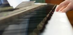 My Home Entertainment System (Philerooski) Tags: panorama focus keyboard bokeh circles piano crop yamaha p85