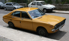 Datsun 160J Violet (Lazenby43) Tags: japanese corfu abandonedcars