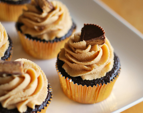chocolate peanut butter cream cheese cupcakes