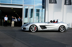 McLaren SLR Stirling Moss (www.kaidalibor.de) Tags: auto red slr art car silver photography mercedes moss stuttgart stirling kunst sony super bblingen exotic kai brakes hyper arrow 16 105 500 alpha mx rare sal laren sindelfingen silber rote extrem meilenwerk pfeil dalibor bremsen selten kaxdx