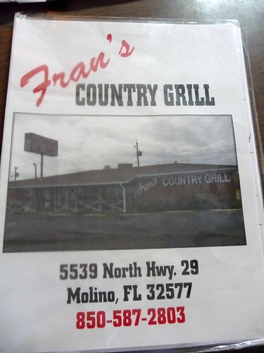 Fran's Country Grill - Menu