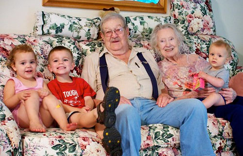 Nana & Grampy with their great grandchildren