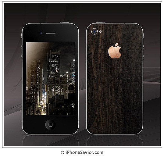 iPhone 4 African Blackwood & 18-Karat Gold