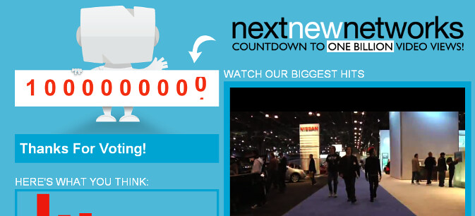 1 Billion views @ Next New Networks