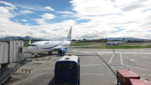 Aires planes at the Bogota airport