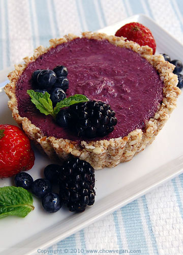 Mini Raw Mixed Berries Cheesecake