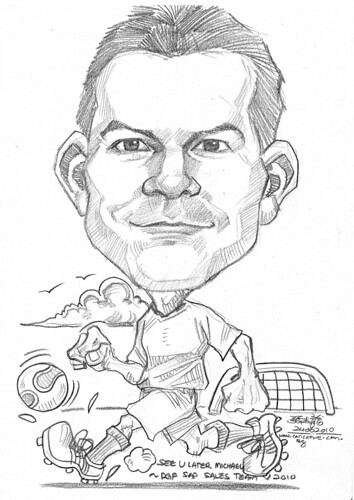 Caricature for DHL - soccer player
