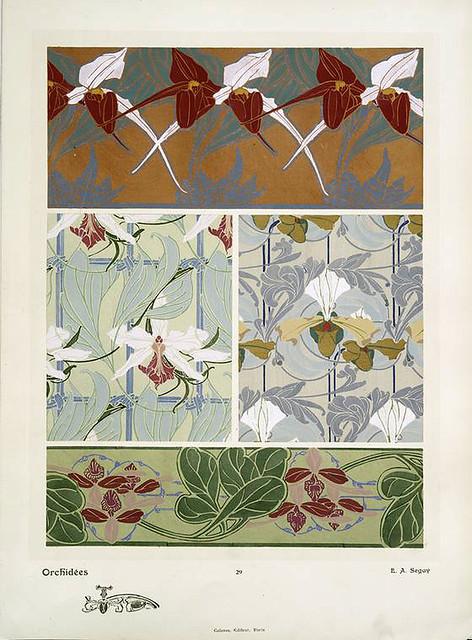 005-Orquideas-Les fleurs et leurs applications decoratives 1902- Eugene Alain Seguy