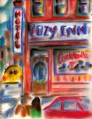 STOPPING BY THEIR FAVORITE BAR... (roberthuffstutter) Tags: streets art beach japan bars midwest pastel couples afterwork drinks 1950s pastels expressionism impressionism americana venicebeach beatniks watercolors pubs sketches picnik drinkers coldbeer loungelizards penandink reallife taverns barflys draughtbeer photogallery cozyinn lounges cornerbar thewayitwas coupes hotelbars galleryphotos coldbeers photogalleries favoritebars budontap anothere